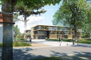 Sautel | perspective Ouest Restructuration lycée agricole Roanne CHERVÉ (42) - image 2